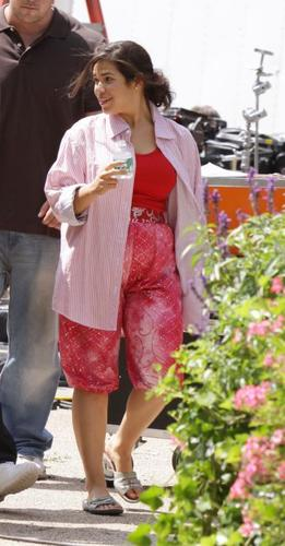 on set of ugly betty- 25 august/09