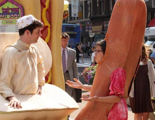 on set of ugly betty- 25 aug/09