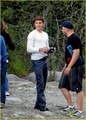 zac efron on set