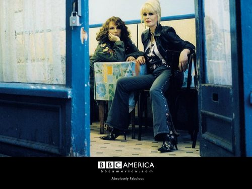 Absolutely Fabulous wallpaper probably with a sign, a street, and a revolving door titled Ab Fab Wallpapers