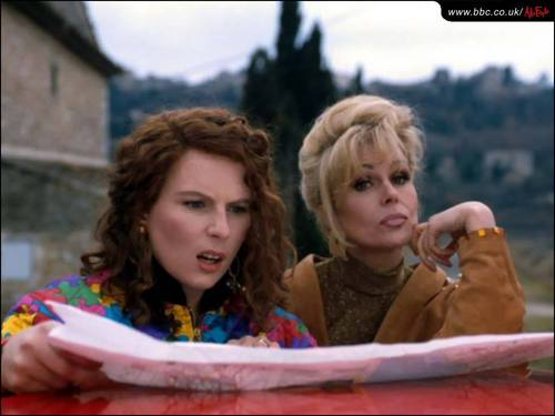 Absolutely Fabulous wallpaper probably containing a barrow, a sign, and a portrait titled Ab Fab Wallpapers