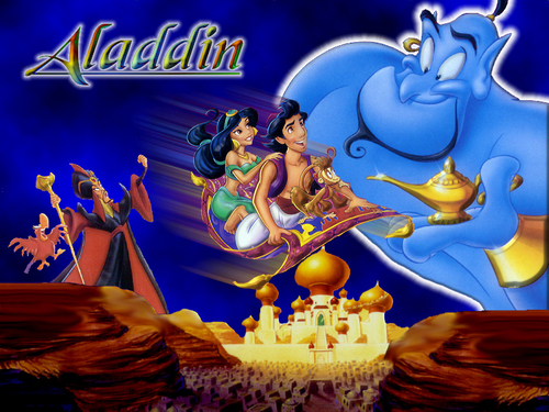 Disney kertas dinding possibly containing Anime called Aladdin