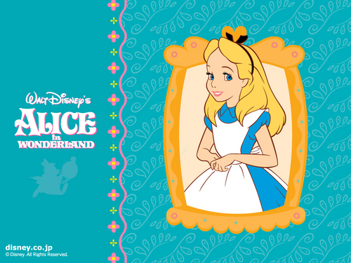 Disney wallpaper possibly with Anime called Alice in Wonderland wallpaper