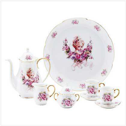 Angel Design Tea Set