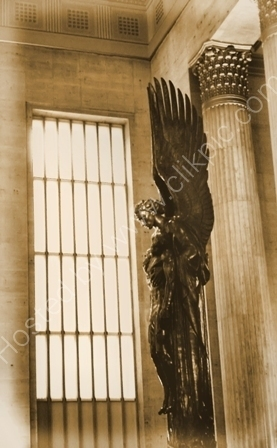 Angel Statue,Dedicated To Railroad Workers At Amtrak Station Philadelphia