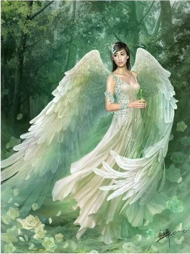 Angels wallpaper probably with a gown and a dinner dress called Angel in the Forest