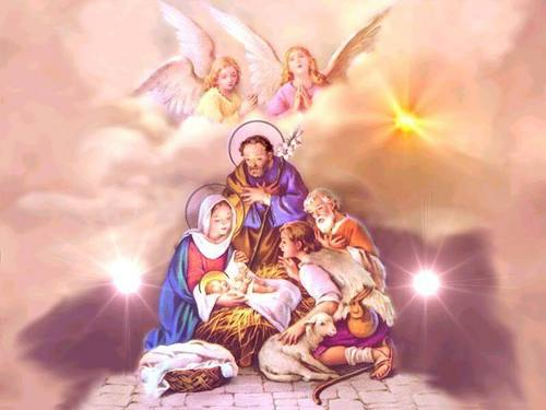 Angels With The Baby Jesus - angels Photo