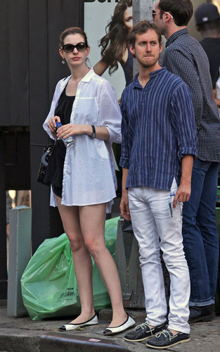 Anne and her husband in SoHo