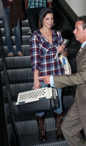 Arriving at airport in Los Angeles