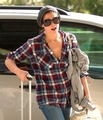 Ashkey at the airport, leaving Vancouver (some days off or a particular event??) - twilight-series photo