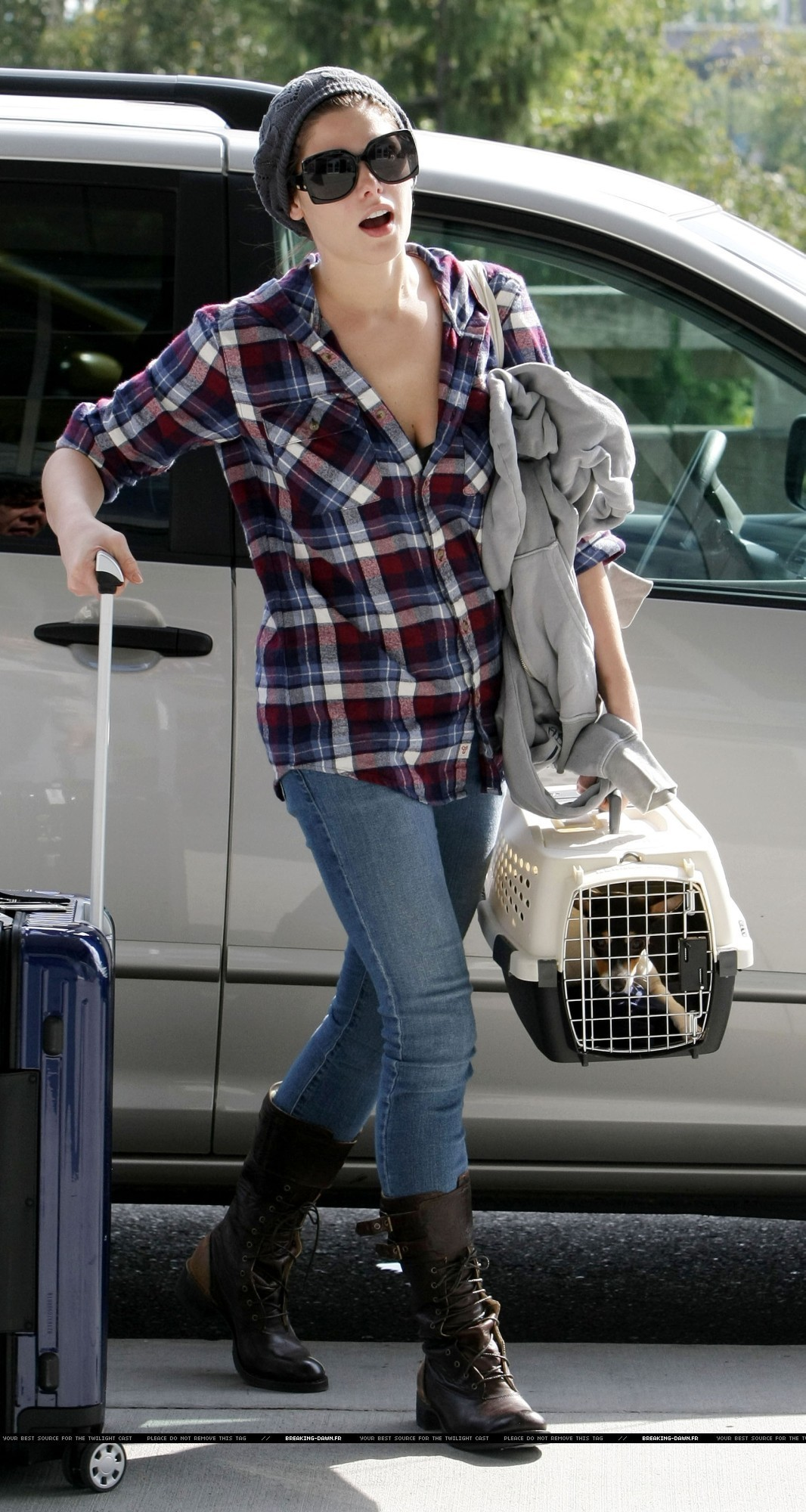 Ashley Greene back in LA with Marlow