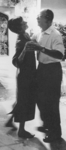 Audrey dancing with director William Wilder