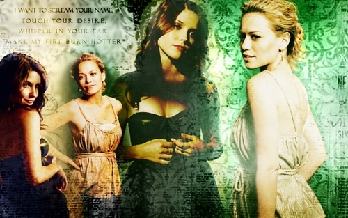 Brooke and Haley wallpaper probably containing attractiveness and a portrait entitled BH<3