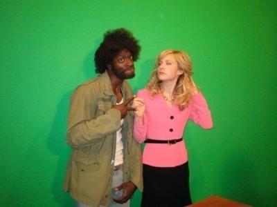 Beth & Aldis behind the scenes