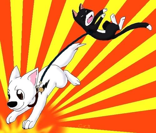 Bolt and Mittens fanart