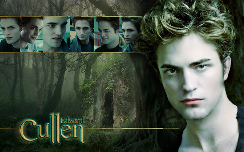 Robert Pattinson wallpaper containing a sign and a portrait entitled Cullen widescreen