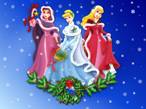 Disney Princesses At Christmas