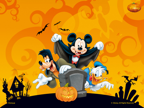 Disney kertas dinding with Anime entitled Disney Halloween kertas dinding