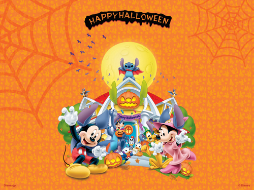 Disney Hintergrund with Anime called Disney Halloween Hintergrund
