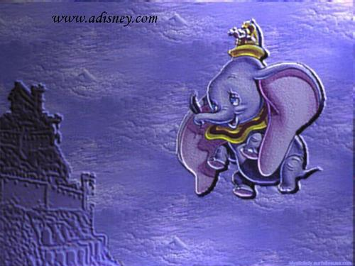 Disney wallpaper possibly containing a fleur de lis, a sign, and Anime titled Dumbo