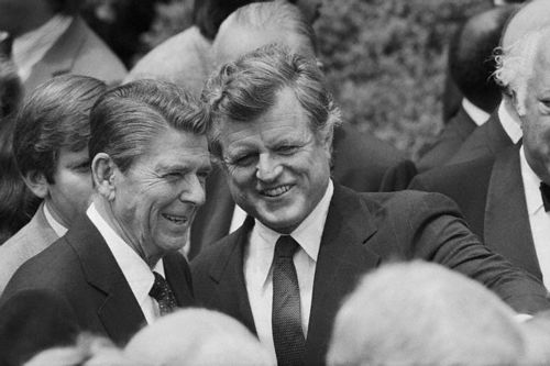 Edward Kennedy & Ronald Reagan