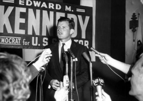 Edward Kennedy campaigning