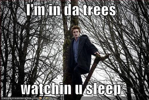 Edward's watching te
