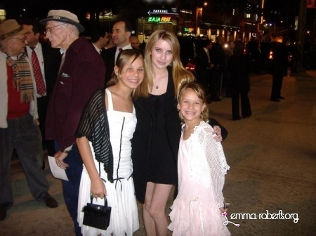 Emma with fans. <3