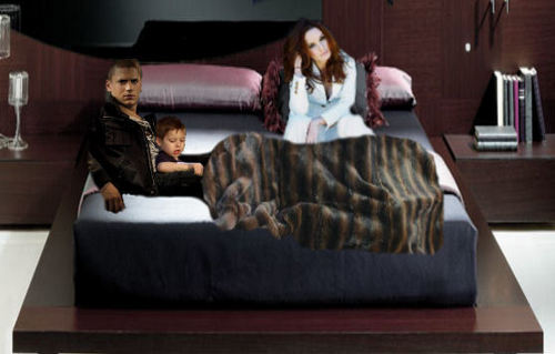 Family Scofield at home