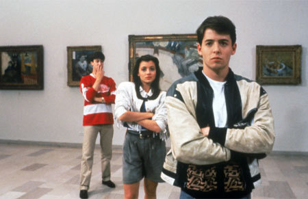 Ferris Bueller wallpaper probably containing a diner, a street, and a family room entitled Ferris Bueller