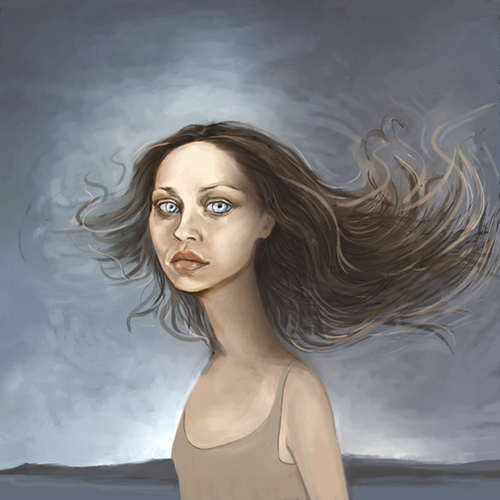 Fiona Apple wallpaper possibly containing skin and a portrait called Fiona Apple Stands in the Wind