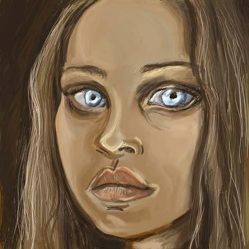 Fiona's Piercing Blue Eyes