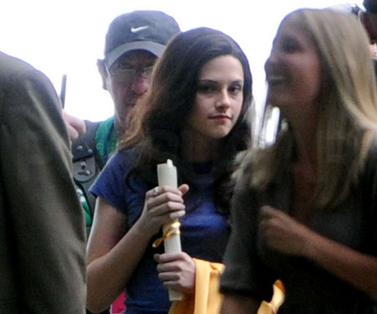 First चित्र of kristen on the Eclipse set (YAYYYYYY!!! bella is alive!!! :)))))