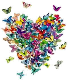 Butterflies wallpaper possibly containing a bouquet called For Susie,A Butterfly Heart