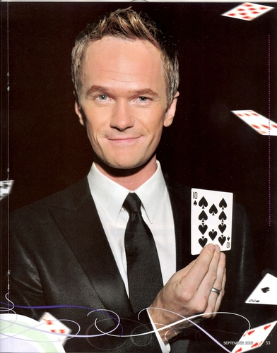 Neil Patrick Harris wallpaper containing a business suit and a suit titled Genii Magazine