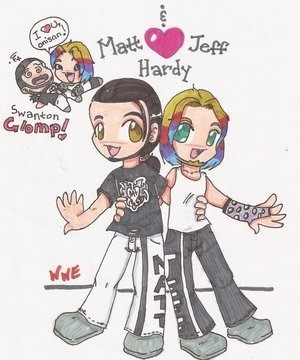 Jeff Hardy wallpaper containing anime called JEFF HARDY 4EVER