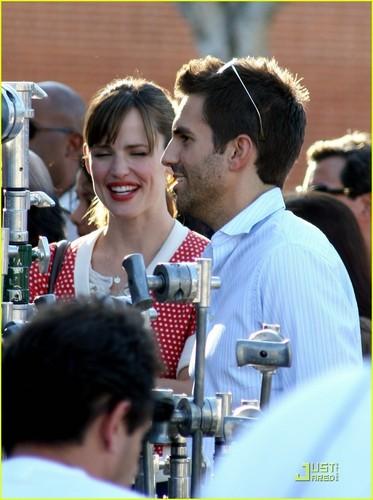 Jennifer Garner on the Set