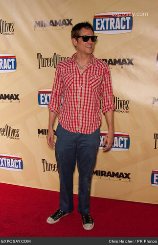 """Johnny at the """"Extract"""" Los Angeles Premiere"""