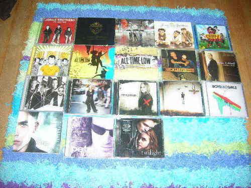 Jonas CD's the first row