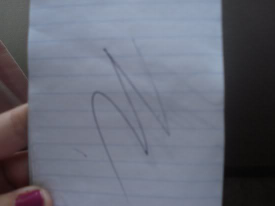 Justin Chon's sign? lol, that's so not understandable! XD