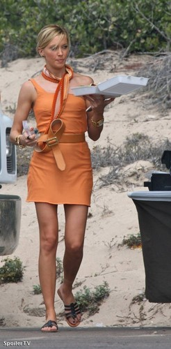Katie Cassidy on set of Melrose Place (September 2)