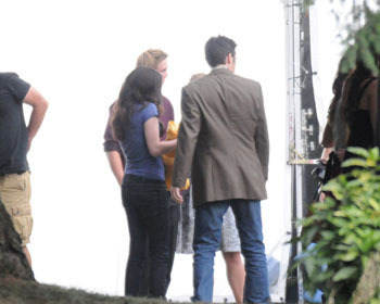 Kristen as Bella in the Eclipse set