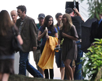Kristen as Bella in the Eclipse set
