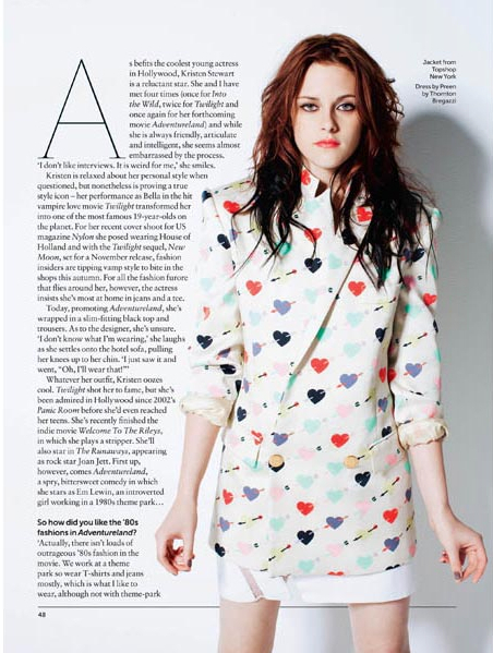 Kristen covering September 2009 of ASOS