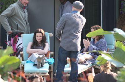 Kristen on set of Eclipse