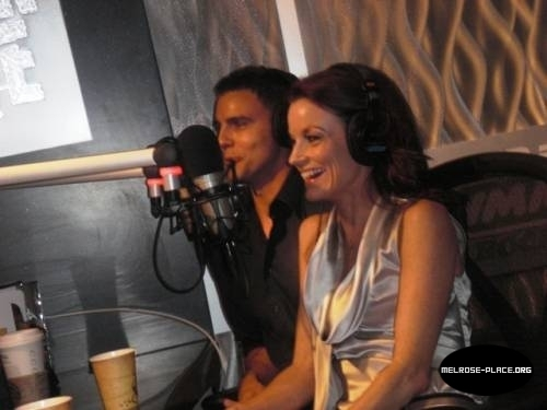 Melrose Place wallpaper titled Laura Leighton and Colin Egglesfield at Preston and Steve Radio Show