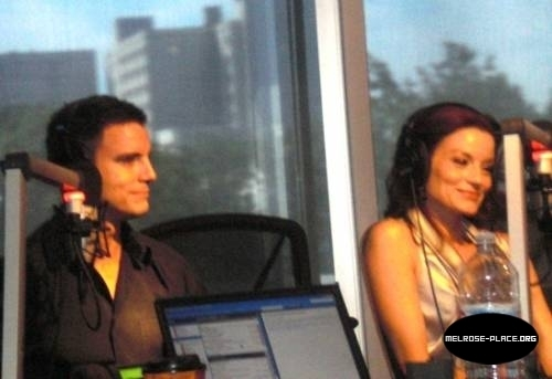 Laura Leighton and Colin Egglesfield at Preston and Steve Radio Show