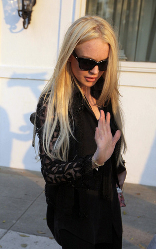 Lindsay at the Neil George Salon in Los Angeles