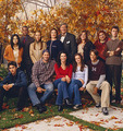 Promotional: Lorelai & Rory, with the Gilmore Girls cast