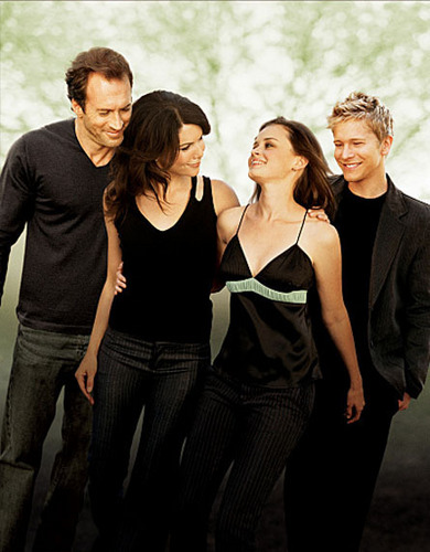 Lorelai & Rory with Luke & Logan